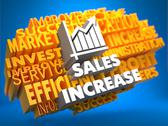 Stock Illustration of Sales Increase. Wordcloud Concept.