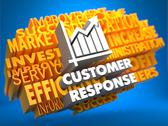 Stock Illustration of Customer Response. Wordcloud Concept.