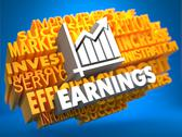 Stock Illustration of Earnings. Wordcloud Concept.
