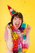 exciting birthday - stock photo