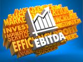 Stock Illustration of EBITDA. Wordcloud Concept.