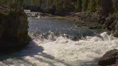 UPPER YELLOWSTONE FALLS – RIVER (SLOW MOTION) Stock Footage