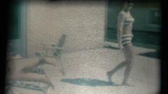 Vintage 1960's, Girls in sprinkler Stock Footage