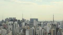 030 Sao Paulo, skyline Stock Footage