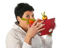 Young woman with vegetables Stock Photos