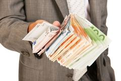 Lots of euro money Stock Photos