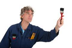 Handyman ready for the job Stock Photos
