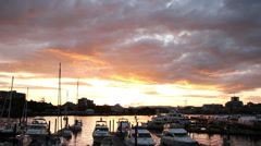 Marina Sunset in Victoria British Columbia, Canada Stock Footage