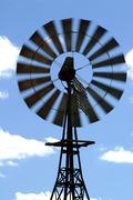 wind mill in the australian bush - stock photo