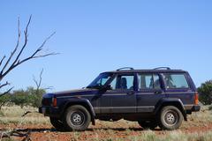4x4 in the australian bush Stock Photos