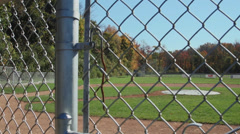 Secluded Baseball Field (5 of 9) Stock Footage