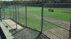 Secluded Baseball Field (7 of 9) Stock Footage