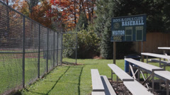 Secluded Baseball Field (1 of 9) Stock Footage