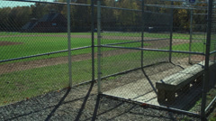 Secluded Baseball Field (3 of 9) Stock Footage