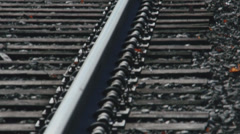Secluded railroad tracks (2 of 5) Stock Footage