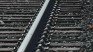 Stock Video Footage of Secluded railroad tracks (2 of 5)