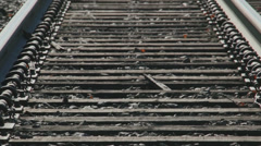 Secluded railroad tracks (3 of 5) Stock Footage