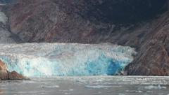 Glacier Melting and Breaking Apart Into Sea (Juneau, Alaska) Stock Footage