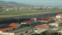 Fighter jets, lajes airbase, airport, terceira island, azores, portugal Stock Footage