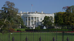 WHITE HOUSE – WIDE VIEW - stock footage