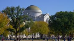 WASHINGTON DC – BUILDING, TREES, PEOPLE - stock footage