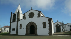 San sebastian church and village, terceira island, azores, portugal Stock Footage