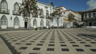 Stock Video Footage of main square, angra do heroismo, terceira island, azores, portugal
