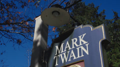 Mark Twain Library (2 of 4) Stock Footage