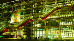 The Centre Pompidou,  is a very popular modern art museum, France Stock Footage