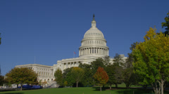 WASHINGTON DC – US CAPITOL BUILDING (WIDE VIEW) # 2 - stock footage