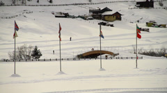 Livigno cross-country skiing Stock Footage