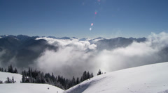 Hurricane Ridge, Winter, Snow, Olympic National Park Stock Footage