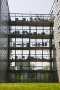 Many modern balconies Stock Photos