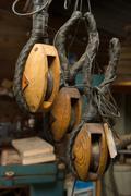 Artisan wood work Stock Photos