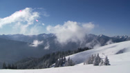 Stock Video Footage of Mist, Time Lapse, Hurricane Ridge, Winter, Snow, OlympicNational Park