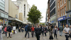 Market Street Shoppers 2 Stock Footage