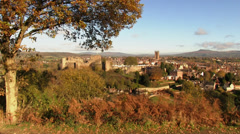 The market town of Ludlow, Shropshire, England Stock Footage