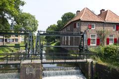 fulling mill in amersfoort - stock photo