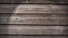 Snow and Weathered Wood Loop Stock Footage