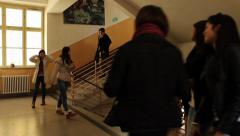 School Hallway Stock Footage