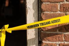 forbidden asbestos - stock photo