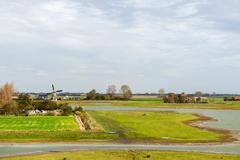 Dutch landscape in zeeland Stock Photos