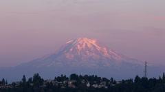 Mt Rainier Sunset Stock Footage