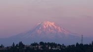 Stock Video Footage of Mt Rainier Sunset