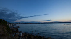Tideflats Sunset Timelapse Stock Footage