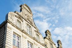 Facades buildings in french arras Stock Photos
