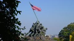 Stock Video Footage of US MARINE CORP WAR MEMORIAL # 2