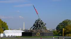 US MARINE CORP WAR MEMORIAL # 3 - stock footage