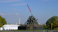 Stock Video Footage of US MARINE CORP WAR MEMORIAL # 3