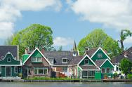 Stock Photo of row houses in typical dutch village